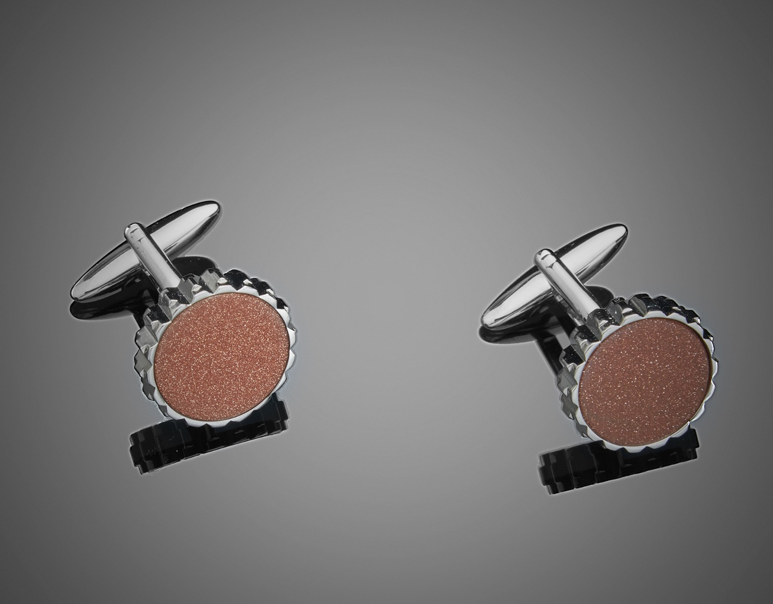 Brown Stone Cufflinks
