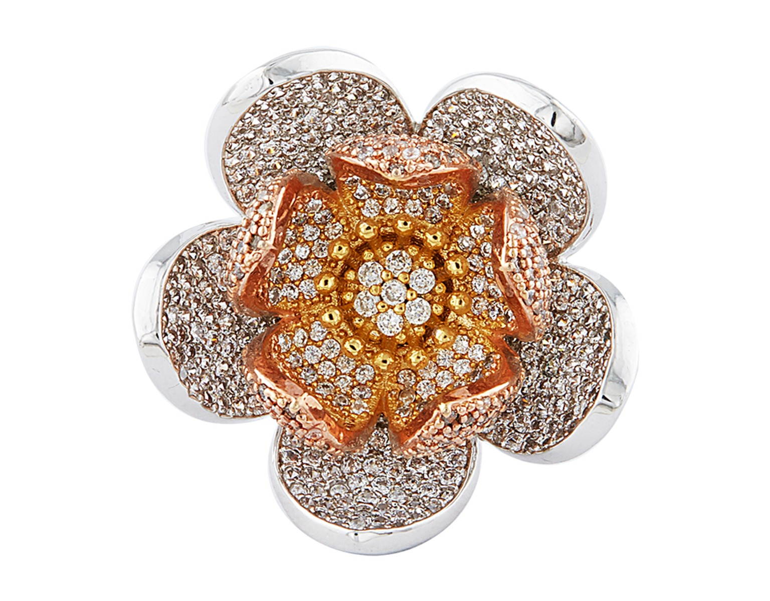 Full Bloom Floral Ring
