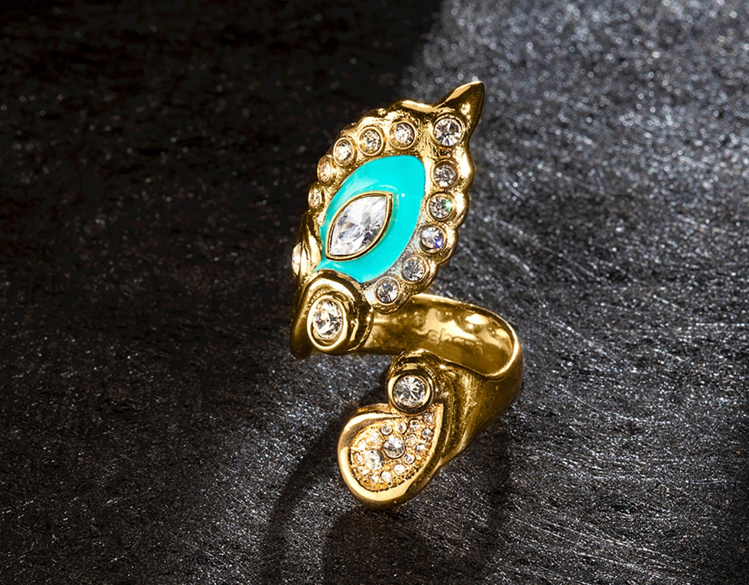 Muse Teal Ring