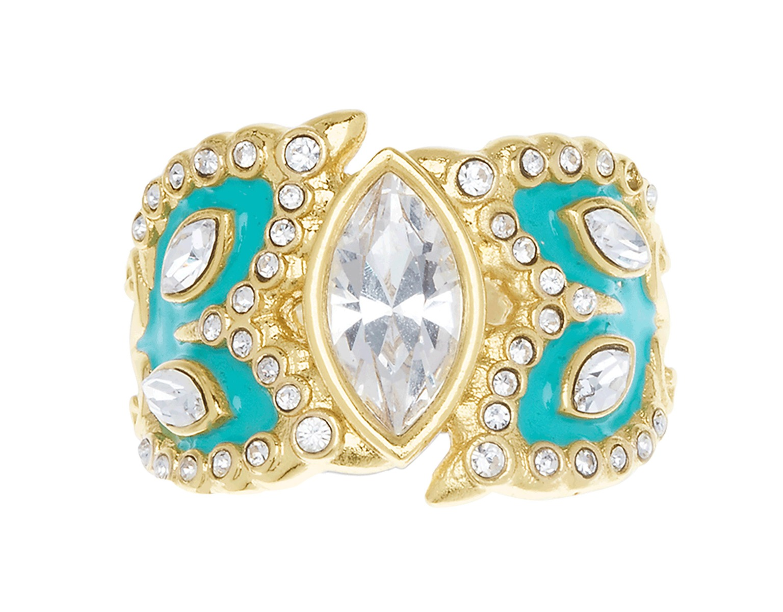 Monarch Teal Ring