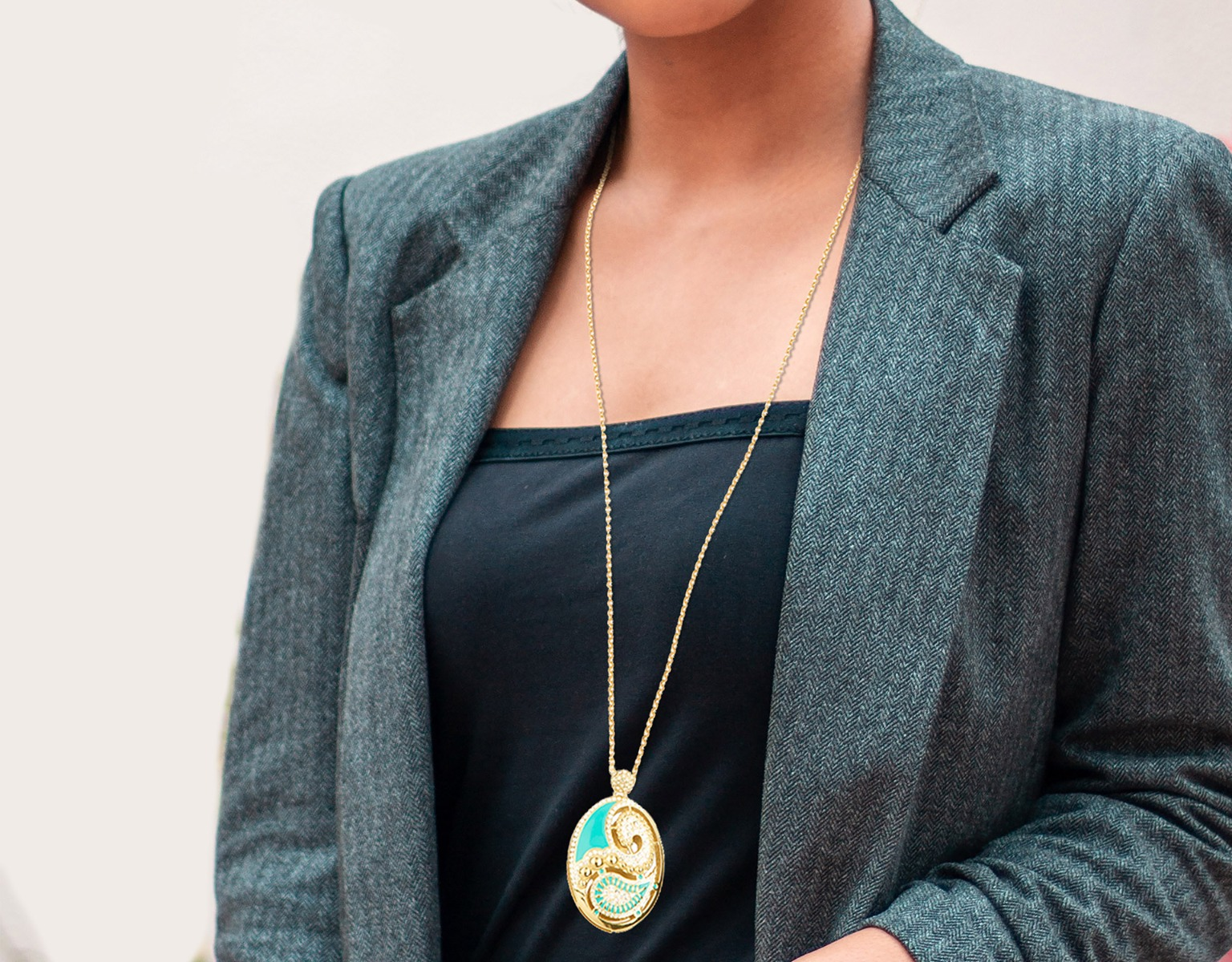 Medley Teal Necklace