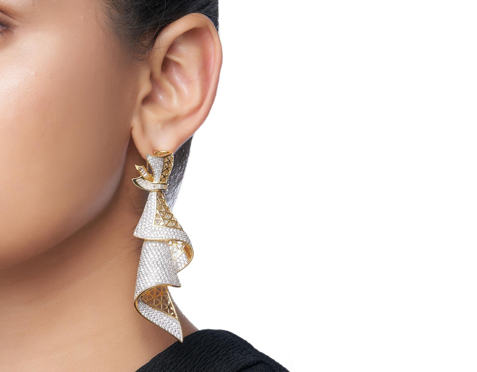 Draped Ecstasy Earrings