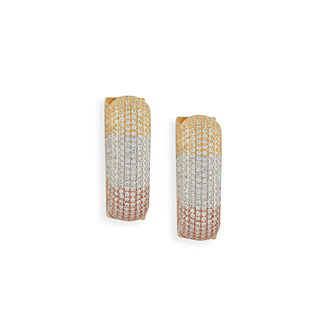 Geo Dazzle Hoop Earrings