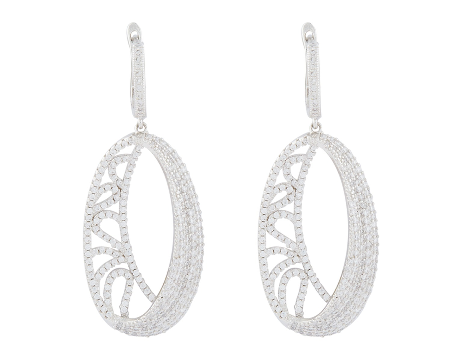Oval Mesh Earrings