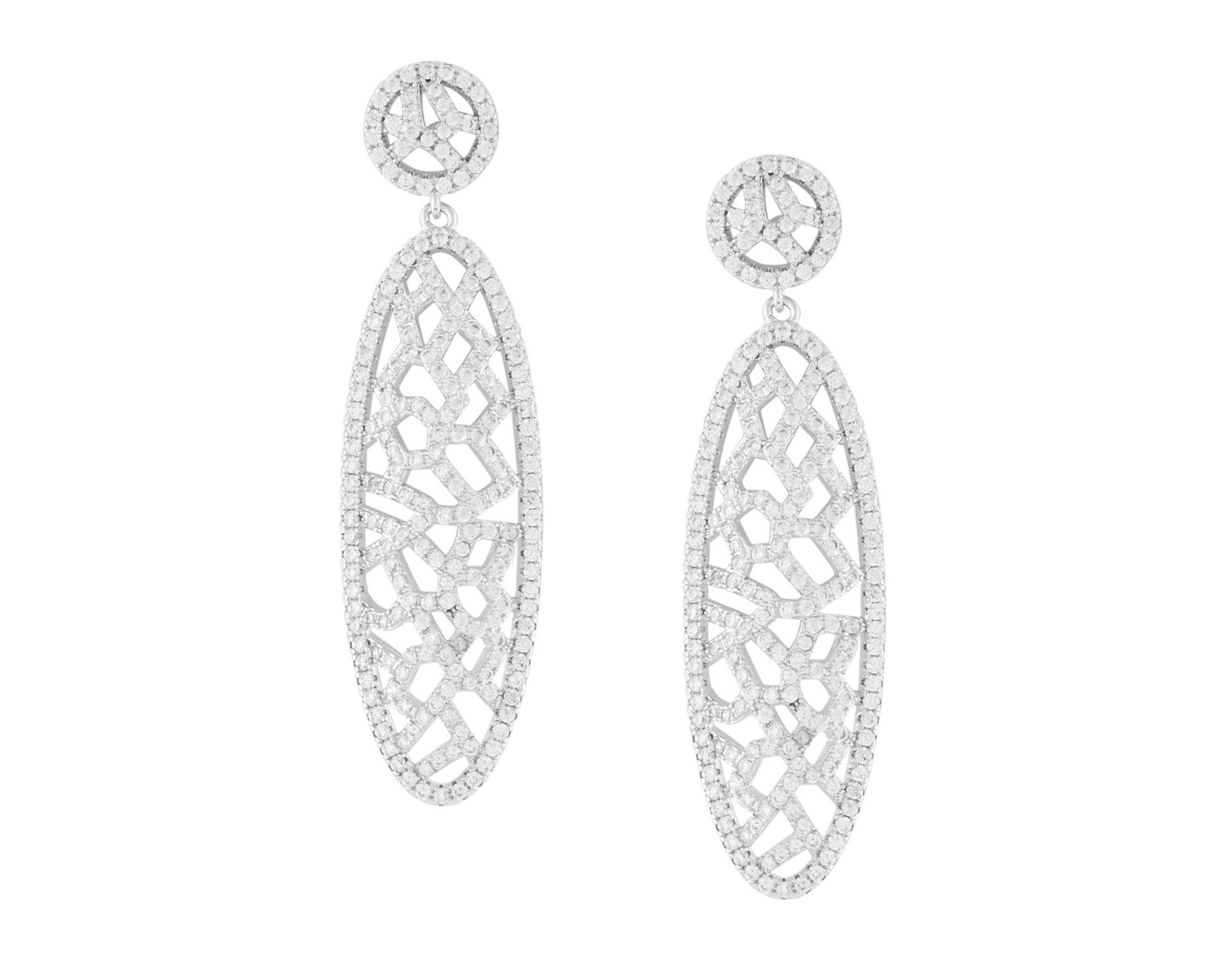 Oval Lattice Earrings
