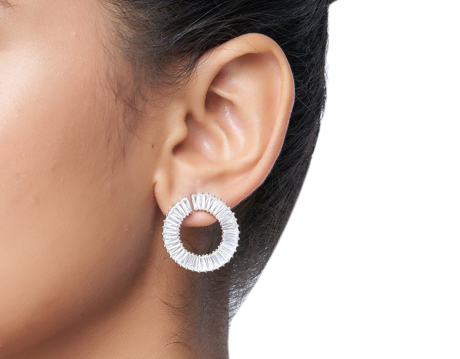 Channel Swirl Earring