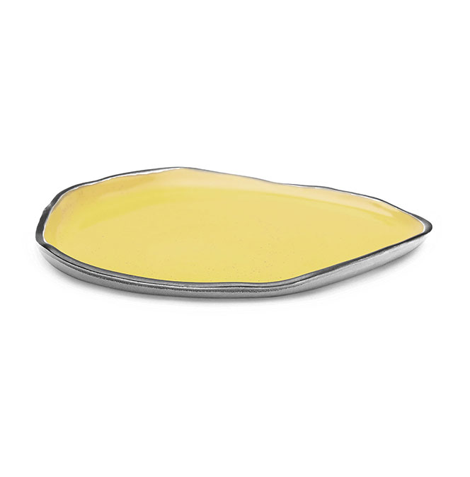 Releve Serve Plate Yellow