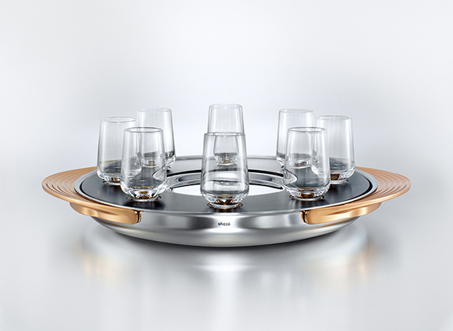 TURNTABLE  SHOT TRAY