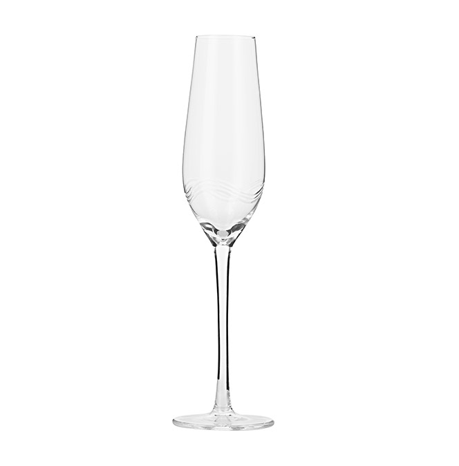Simcha Crystal Champagne Glass – Set of 6