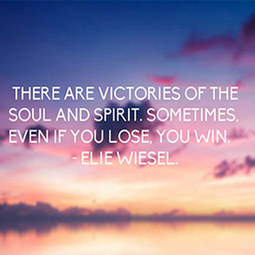 Victories Of The Soul And Spirit - Elie Wiesel